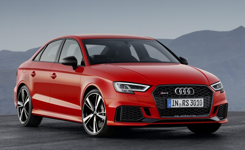audi rs3 sedan revealed with 400 ps. Black Bedroom Furniture Sets. Home Design Ideas