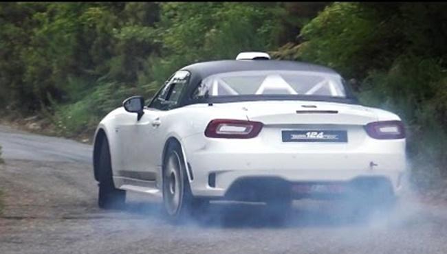 fiat 124 abarth r gt rally car filmed in action. Black Bedroom Furniture Sets. Home Design Ideas