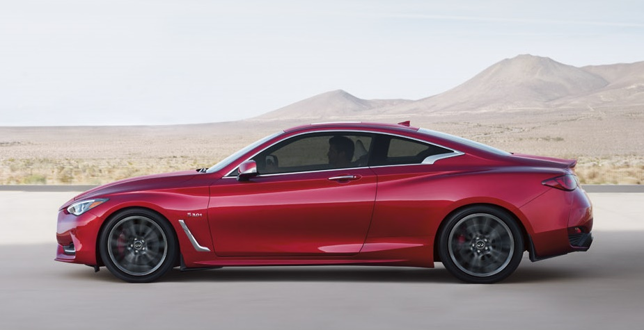infiniti q60 red sport 400 priced from 52k. Black Bedroom Furniture Sets. Home Design Ideas