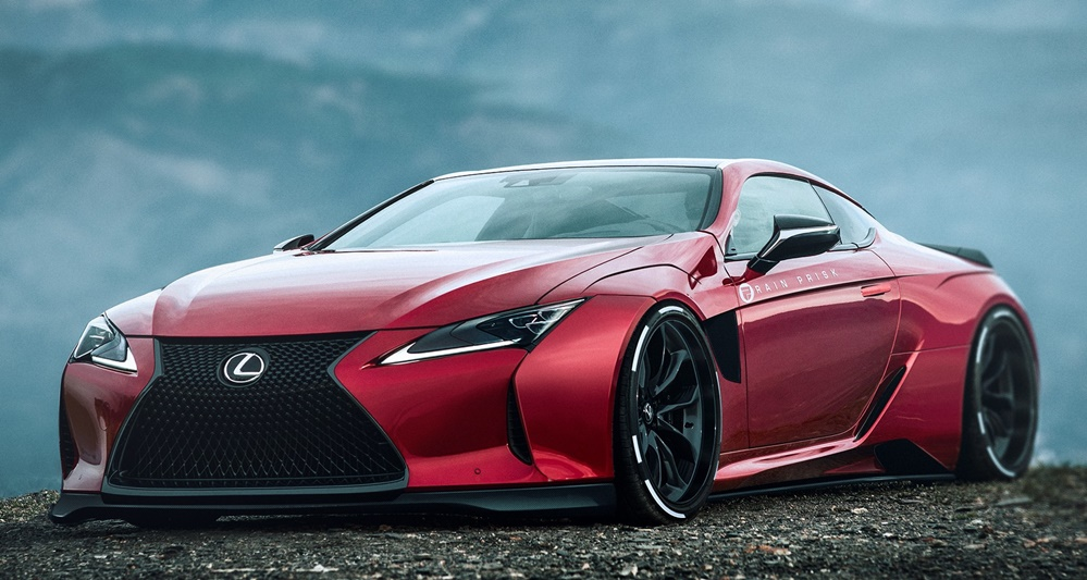 rendering super fat lexus lc 500 wide body. Black Bedroom Furniture Sets. Home Design Ideas