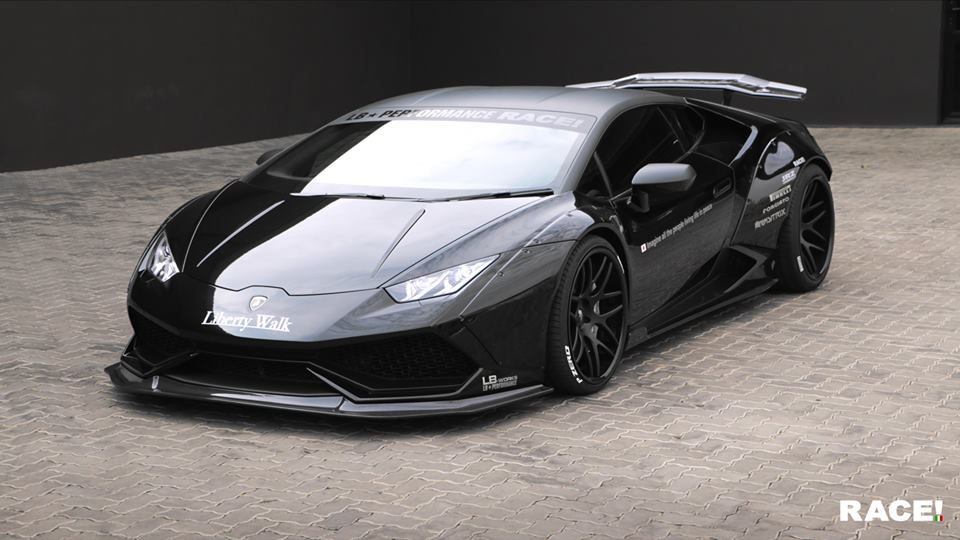 liberty walk lamborghini huracan by race. Black Bedroom Furniture Sets. Home Design Ideas
