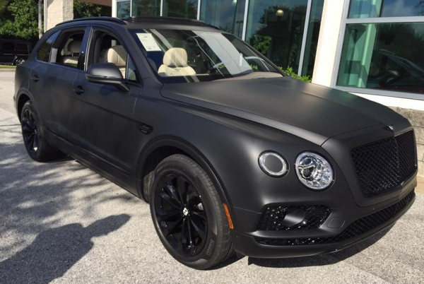 Matte Black Bentley Bentayga-1