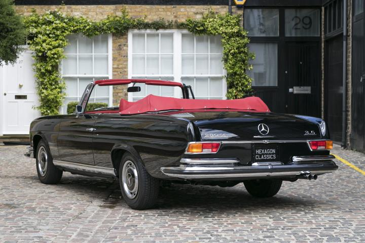 spotted for sale 1970 mercedes 280 se cabriolet. Black Bedroom Furniture Sets. Home Design Ideas