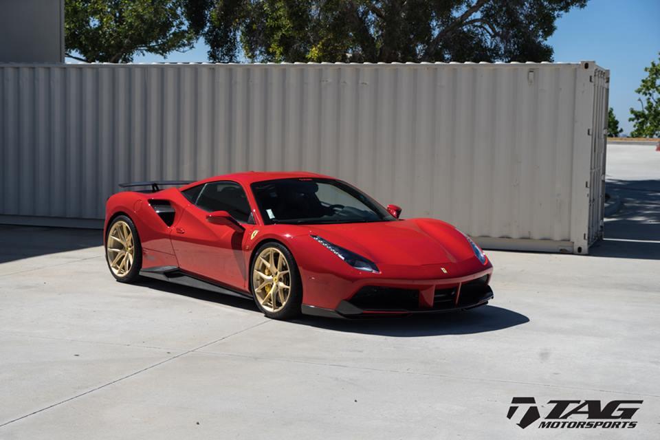 Ferrari Gold Wheels