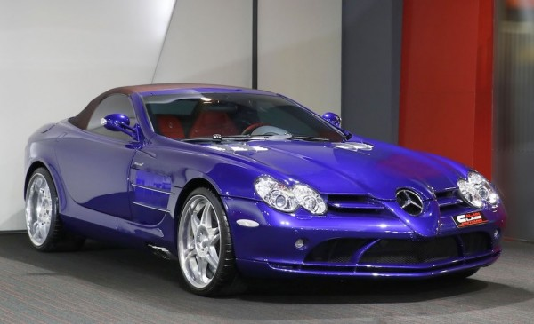 Royal Blue McLaren Mercedes SLR Roadster-0