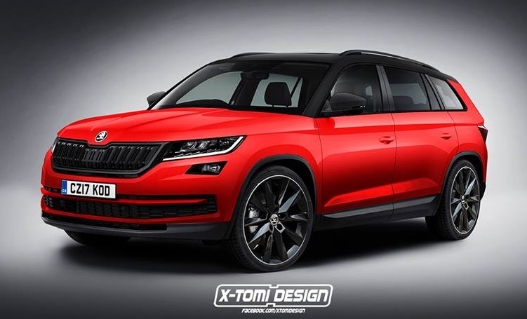 Rendering Skoda Kodiaq Rs And Monte Carlo