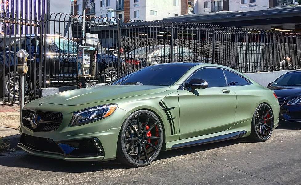 Matte Military Green Mercedes