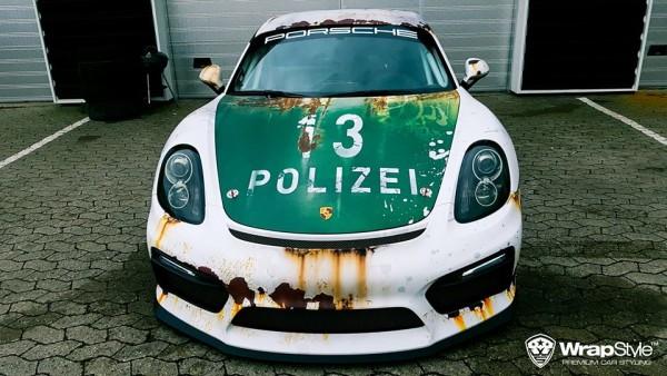 cayman rusty polizei 3 600x338 at Porsche Cayman in Rusty Polizei Wrap