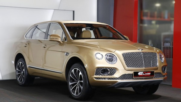 Bentley Bentayga Gold 0 600x339 at Gallery: Bentley Bentayga Looks Dapper in Gold