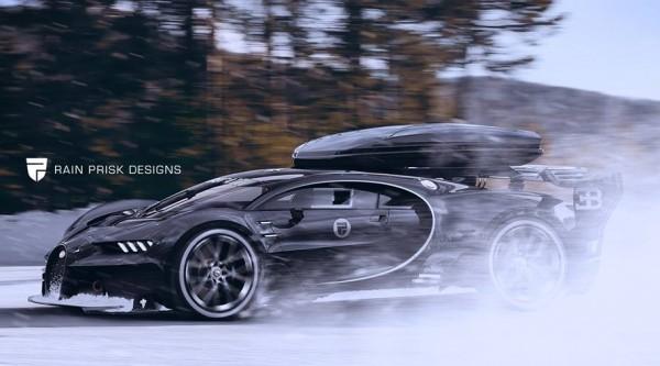Bugatti Vision Ski Car