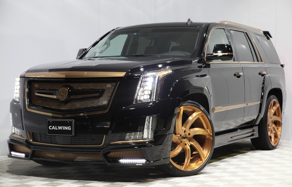 Calwing Cadillac Escalade Gold 0 at Calwing Cadillac Escalade Goes Black & Gold