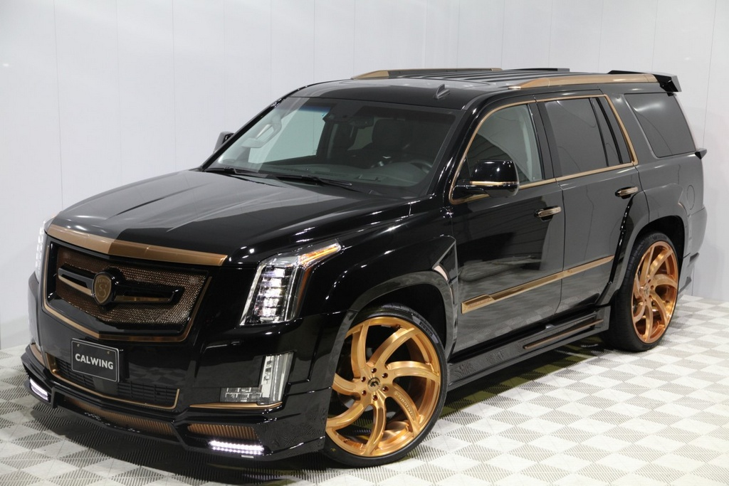 Calwing Cadillac Escalade Goes Black Amp Gold