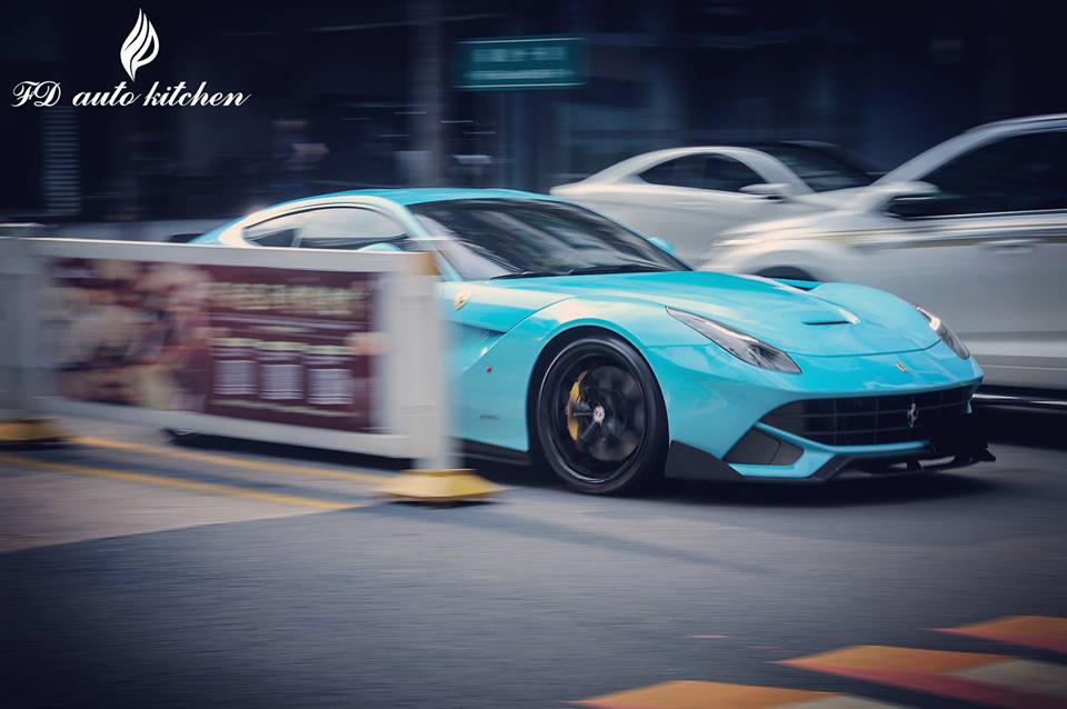 DMC Ferrari F12 Spotted in Baby Blue