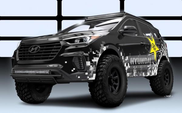 Hyundai Rockstar Santa Fe 600x372 at SEMA Preview: Hyundai Rockstar Santa Fe Concept