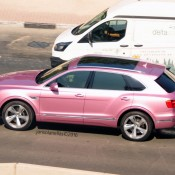 Pink Bentley Bentayga 2 175x175 at Pink Bentley Bentayga Spotted in the Wild