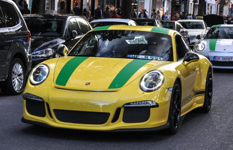 Speed Yellow Porsche 911 R Sighted In Dusseldorf