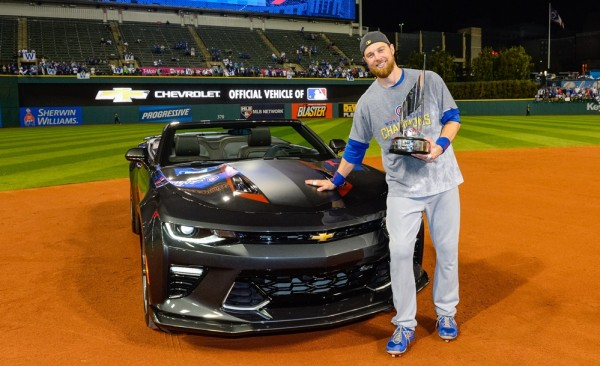 CamaroSS50thZorbistMVP01 600x366 at Special Edition Camaro Awarded to 2016 World Series MVP