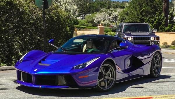 Electic Blue Ferrari LaFerrari