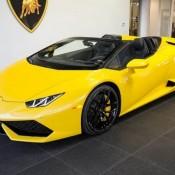 Giallo Inti Lamborghini Huracan Spyder-11