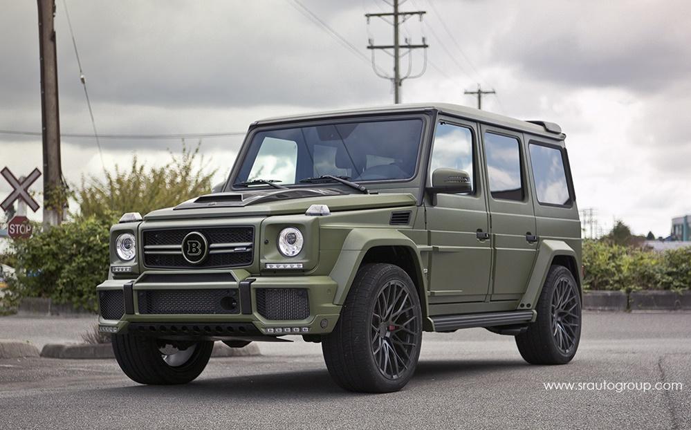 Matte Military Green Brabus G63 by SR Auto