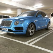 Royal Blue Bentley Bentayga Slammed 3 175x175 at Royal Blue Bentley Bentayga Spotted Sitting Unusually Low