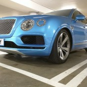 Royal Blue Bentley Bentayga Slammed 5 175x175 at Royal Blue Bentley Bentayga Spotted Sitting Unusually Low