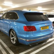 Royal Blue Bentley Bentayga Slammed 7 175x175 at Royal Blue Bentley Bentayga Spotted Sitting Unusually Low