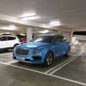 Royal Blue Bentley Bentayga Slammed 9 175x175 at Royal Blue Bentley Bentayga Spotted Sitting Unusually Low