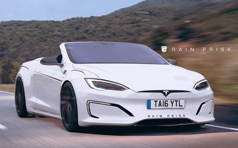 2018 tesla s p100d.  p100d tesla model s convertible at rendering with 2018 tesla s p100d
