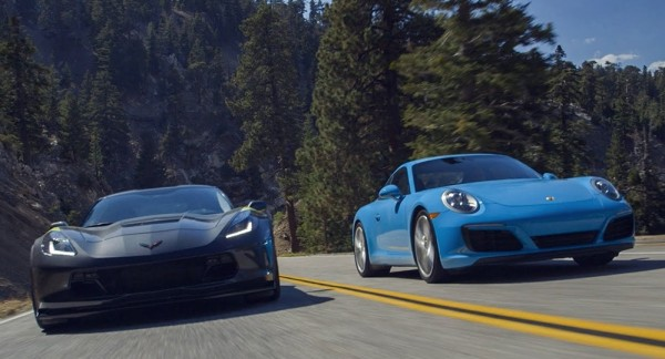 corvette vs 911C4S 600x324 at Which Is Better? Corvette Grand Sport vs Porsche 991 Carrera S
