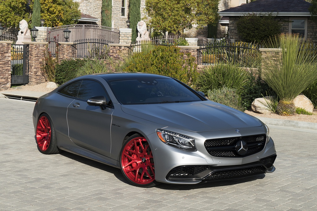 Calabasas Mercedes Amg S65 Coupe With Red Wheels