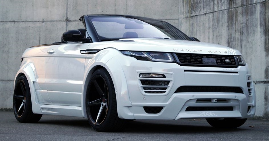 range rover evoque cabrio by cartech