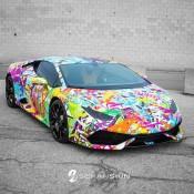 Graffiti Lamborghini Huracan-1
