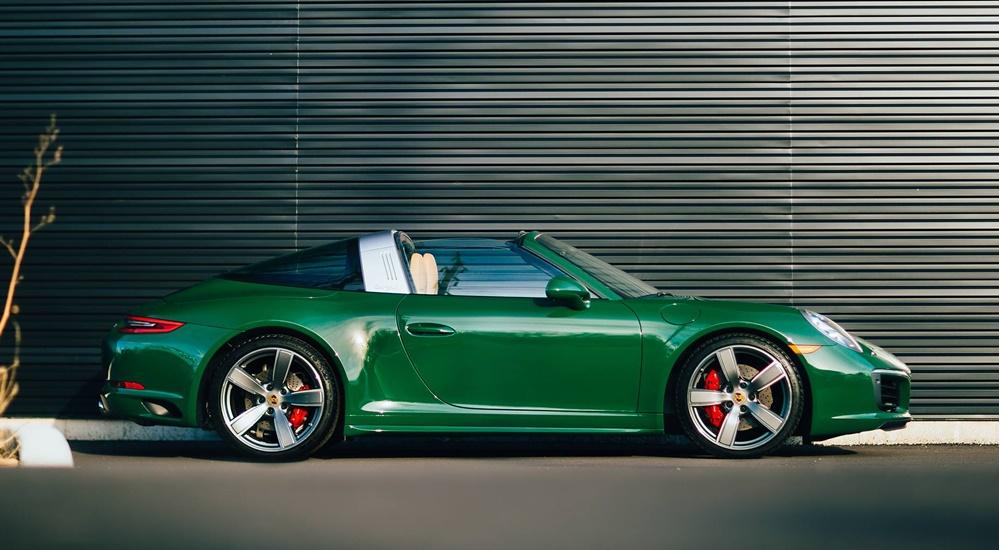 Eye Candy Irish Green Porsche 991 Targa