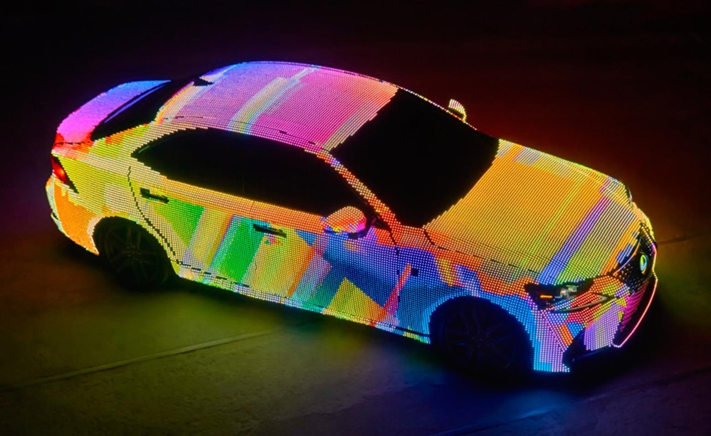 Lexus IS LIT 1 at Lexus IS Covered in 41,999 LEDs for a Music Video
