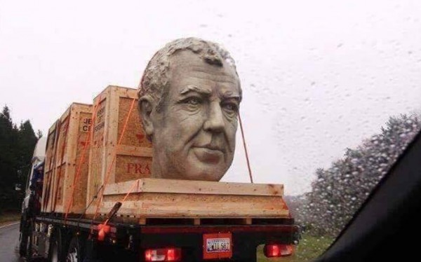 clarkson bust 600x374 at WTF? Somebody's Made a Bust of Jeremy Clarkson!