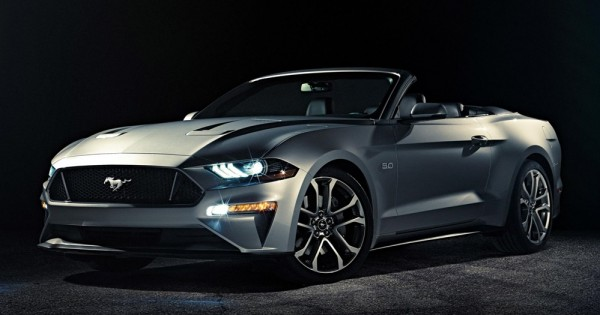 2018 Ford Mustang Convertible 1 600x315 at 2018 Ford Mustang Convertible Officially Unveiled