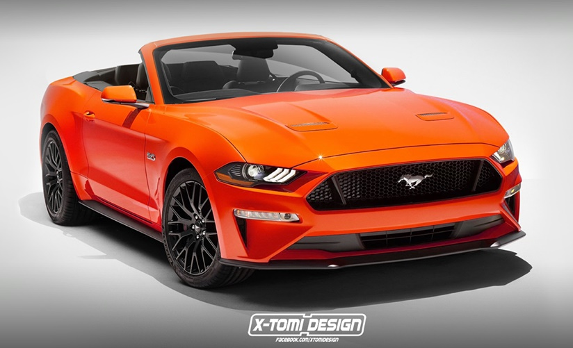 Ford Mustang GT Convertible render at Ford Mustang GT Convertible Previewed in Unofficial Rendering