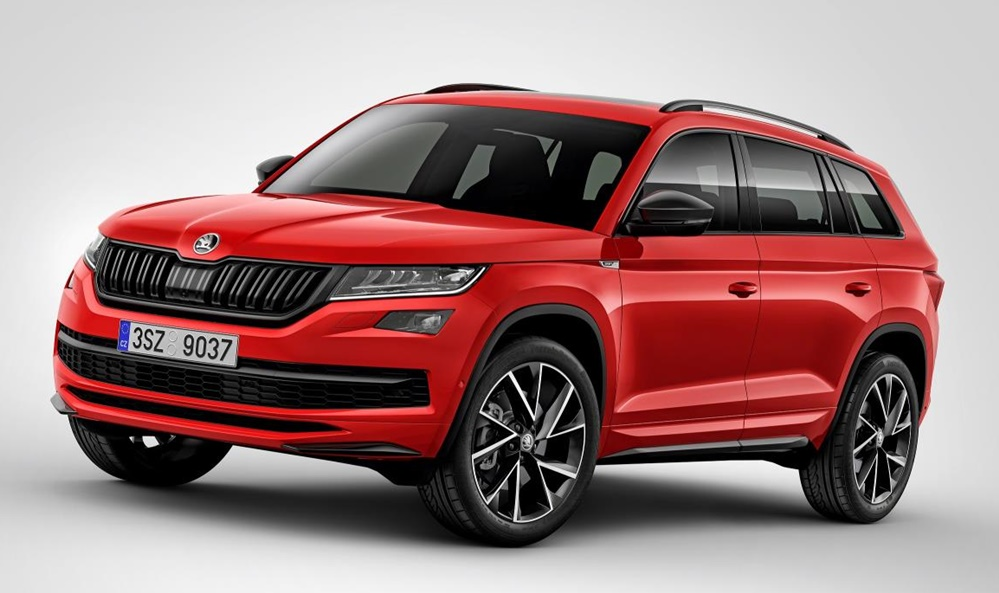 official skoda kodiaq sportline. Black Bedroom Furniture Sets. Home Design Ideas
