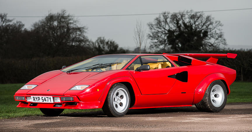 speed record holder lamborghini countach up for auction. Black Bedroom Furniture Sets. Home Design Ideas