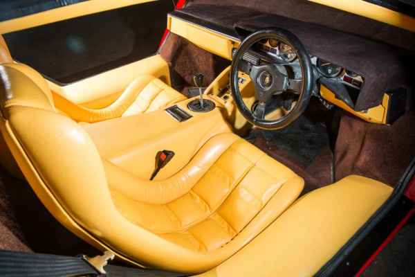 1983 Lamborghini Countach LP500S interior 2 HR 600x400 at Speed Record Holder Lamborghini Countach Up for Auction