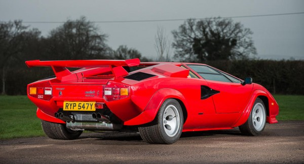 1983 Lamborghini Countach LP500S rear angle HR 600x323 at Speed Record Holder Lamborghini Countach Up for Auction