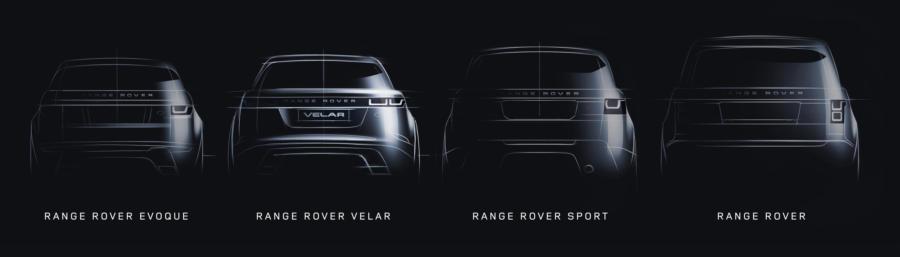 LR New RR Family Line Drawing Tease Image 170217 at Range Rover Velar Teased Ahead of Geneva Debut