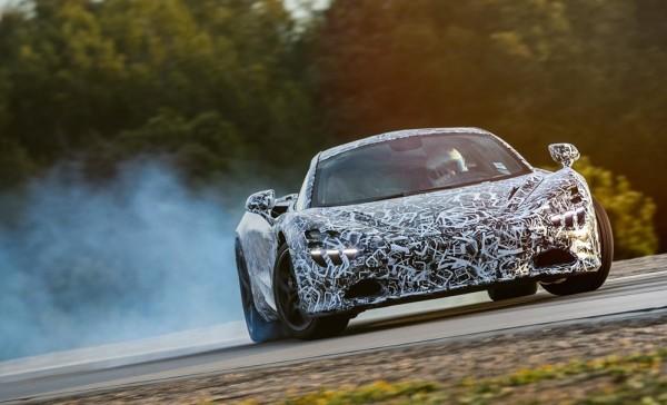 McLaren P14 drift