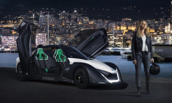 Nissan BladeGlider Margot Shot Open 600x359 at Margot Robbie Becomes a Nissan Ambassador for Electric Car