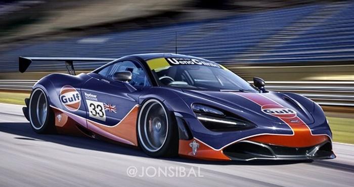 Mclaren 720s gt3 at McLaren 720S Rendered in Spider and GT3 Guises