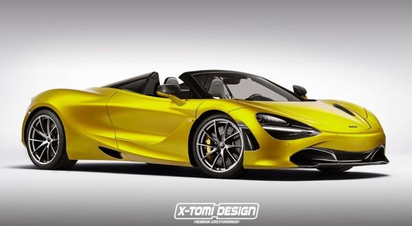 mclaren 720s spider 600x329 at McLaren 720S Rendered in Spider and GT3 Guises