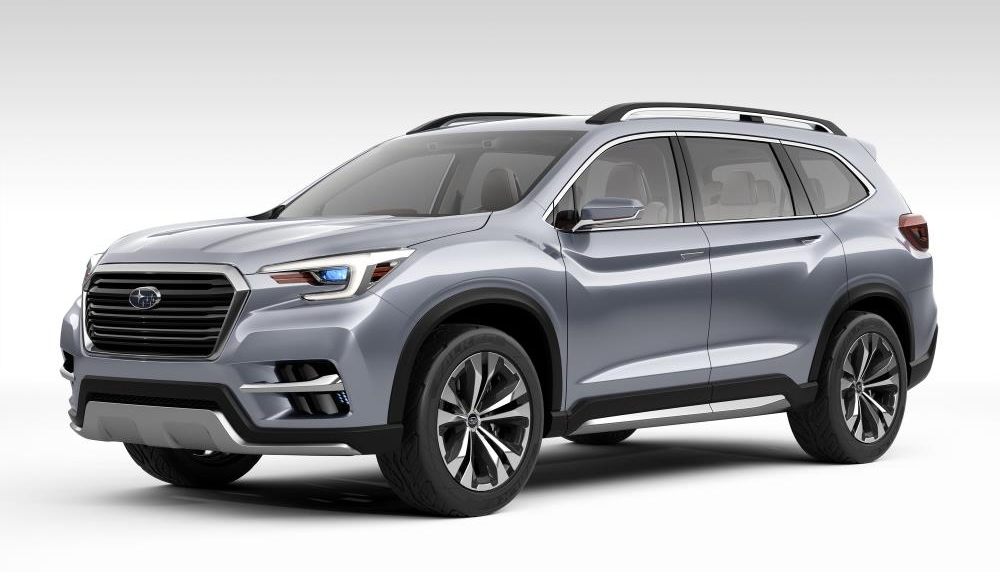 subaru ascent suv concept unveiled at nyias. Black Bedroom Furniture Sets. Home Design Ideas