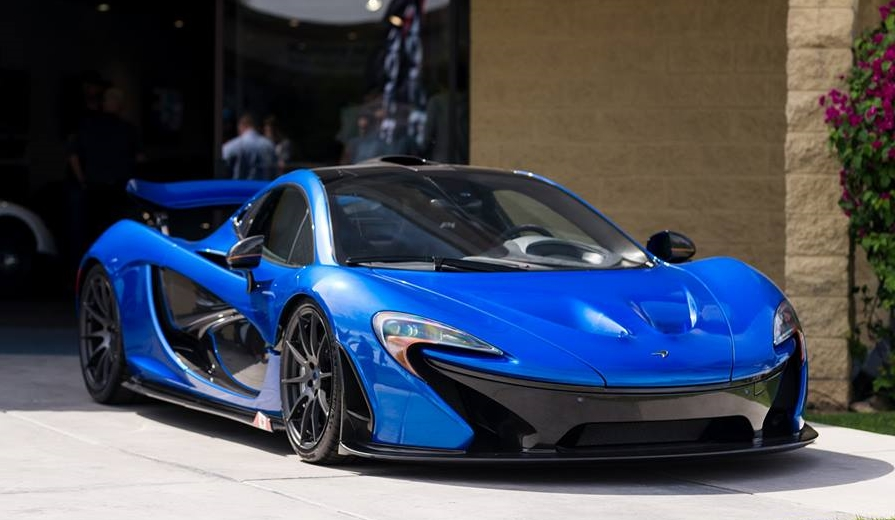 electric blue mclaren p1 on sale for million. Black Bedroom Furniture Sets. Home Design Ideas