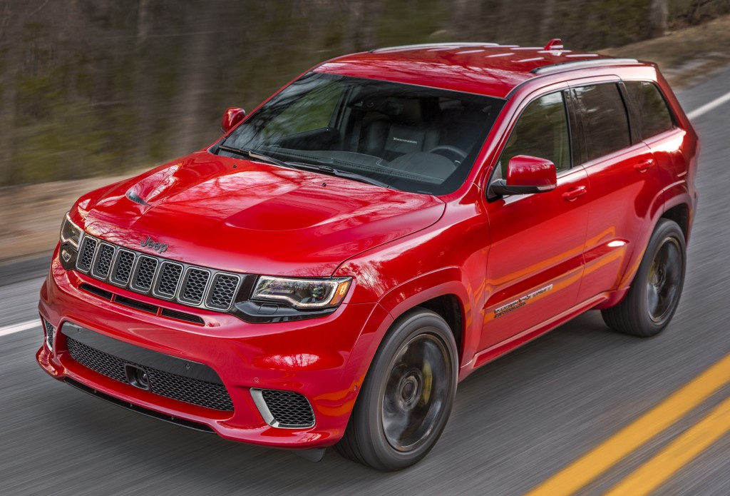 2018 jeep grand cherokee trackhawk revealed with hellcat engine. Black Bedroom Furniture Sets. Home Design Ideas